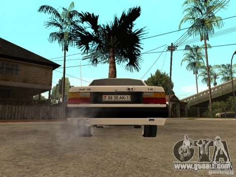 Audi 100 for GTA San Andreas back left view