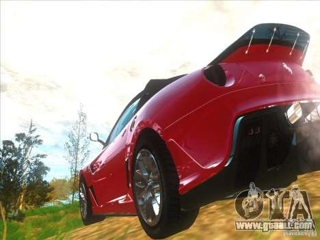 Ferrari 599XX for GTA San Andreas back left view