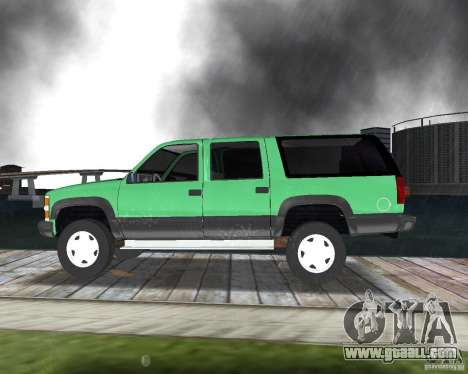 Chevrolet Suburban 1996 for GTA Vice City right view