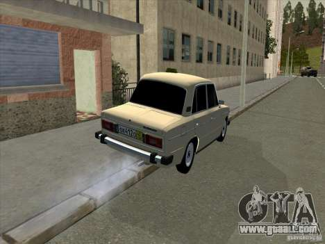 VAZ 2106 Taxi for GTA San Andreas back left view