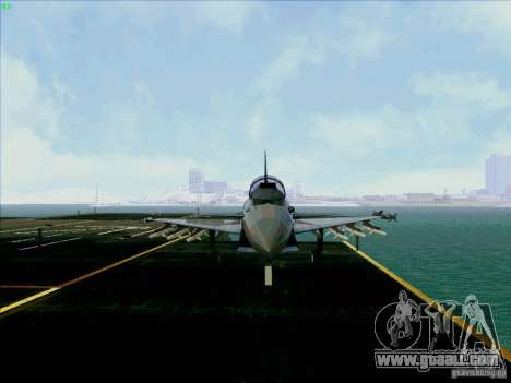 Eurofighter-2000 Typhoon for GTA San Andreas back view