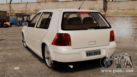 Volkswagen Golf Flash Edit for GTA 4 back left view