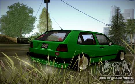 VW Golf MK2 Stanced for GTA San Andreas side view