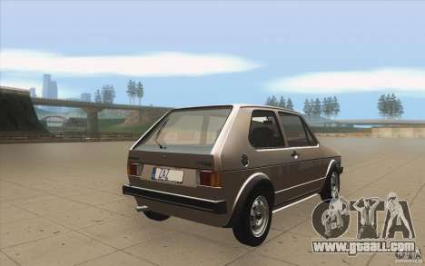 Volkswagen Golf Mk1 - Stock for GTA San Andreas side view