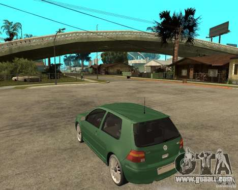 Volkswagen Golf IV GTI for GTA San Andreas left view