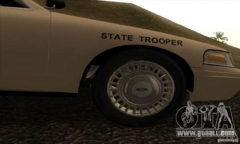 Ford Crown Victoria Iowa Police for GTA San Andreas right view