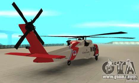 HH-60 Jayhawk USCG for GTA San Andreas left view
