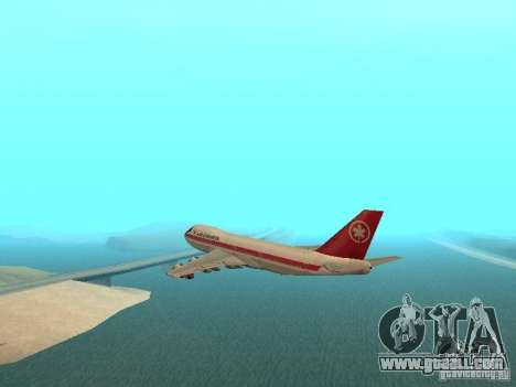 Boeing 747 Air Canada for GTA San Andreas left view
