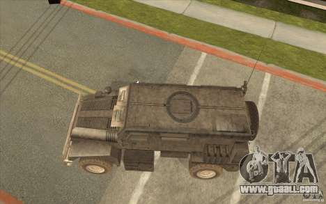 Military Truck for GTA San Andreas back left view