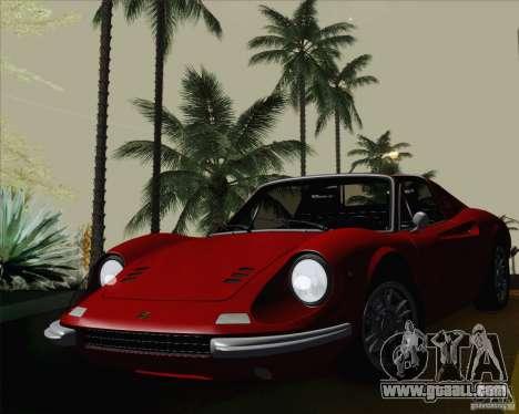 Ferrari 246 Dino GTS for GTA San Andreas back view