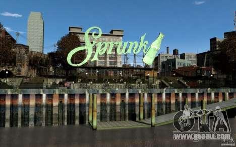 Menu and boot screens of Liberty City in GTA 4 for GTA San Andreas