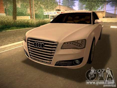Audi A8 2010 for GTA San Andreas