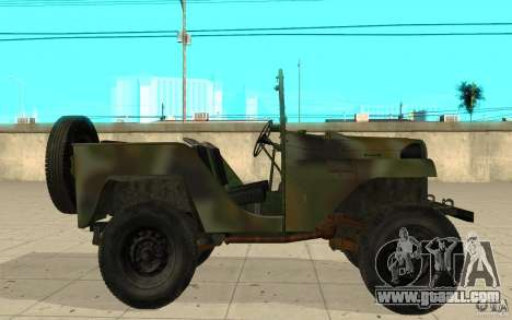 Gaz-64 skin 2 for GTA San Andreas left view