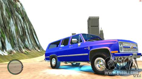 Chevrolet Suburban 1986 for GTA 4 inner view