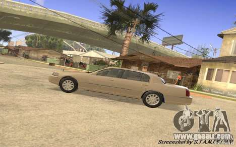 Lincoln Towncar Secret Service for GTA San Andreas back view