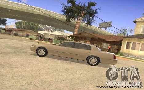 Lincoln Towncar Secret Service for GTA San Andreas back view