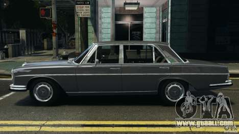 Mercedes-Benz 300Sel 1971 v1.0 for GTA 4 left view