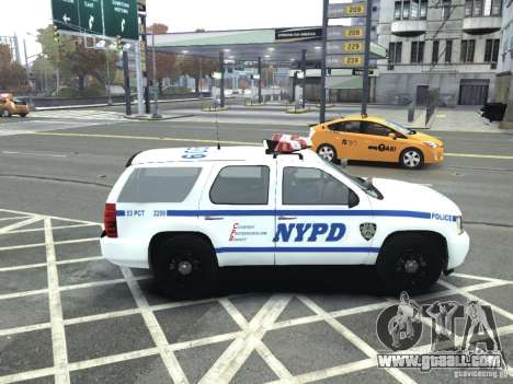 Chevrolet Tahoe NYCPD for GTA 4 left view