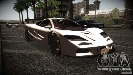 McLaren F1 LM for GTA San Andreas back view