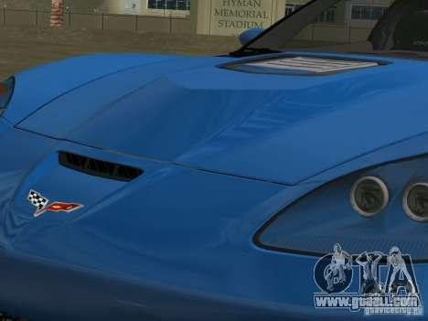 Chevrolet Corvette ZR1 for GTA Vice City inner view