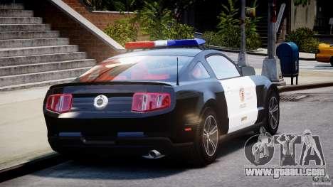 Ford Mustang V6 2010 Police v1.0 for GTA 4 side view