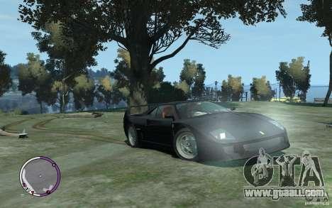 Ferrari F40 v2.0 for GTA 4 back view
