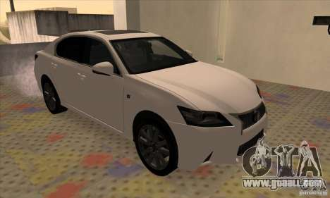 Lexus GS350 F Sport Series IV 2013 for GTA San Andreas left view
