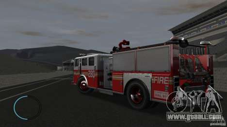 NEW Fire Truck for GTA 4 back left view