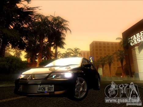 Mitsubishi Lancer Evolution VIII Full Tunable for GTA San Andreas left view