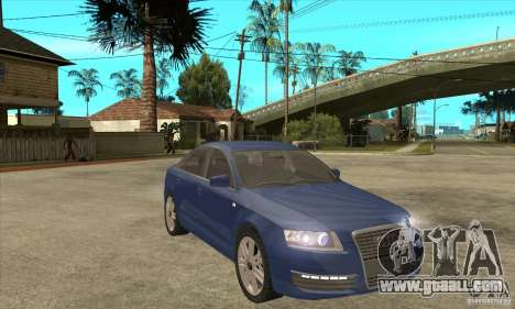 Audi S6 Limousine V1.1 for GTA San Andreas back view