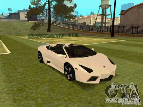 Lamborghini Reventon Convertible for GTA San Andreas inner view