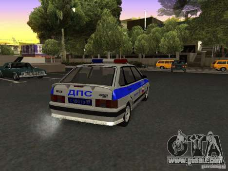 ВАЗ 2114 Police for GTA San Andreas back left view