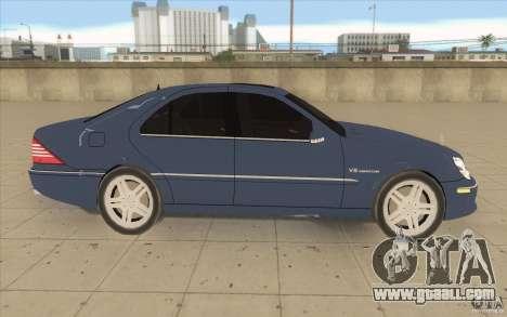 Mercedes-Benz S-Klasse for GTA San Andreas inner view