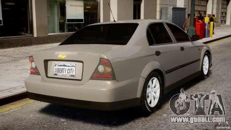 Chevrolet Evanda for GTA 4 interior