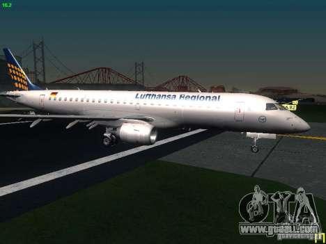 Embraer ERJ 190 Lufthansa Regional for GTA San Andreas