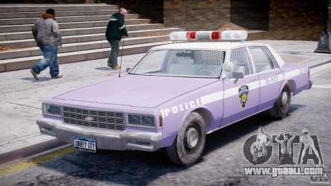 Chevrolet Impala Police 1983 v2.0 for GTA 4 left view
