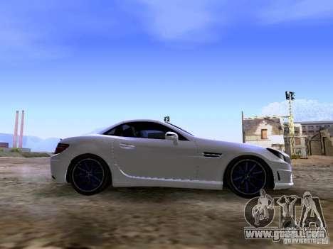 Mercedes-Benz SLK55 AMG 2012 for GTA San Andreas inner view