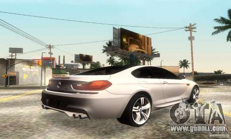 BMW M6 Coupe 2013 for GTA San Andreas back view
