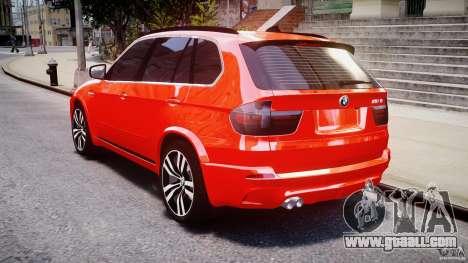 BMW X5M Chrome for GTA 4 upper view