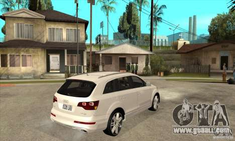 AUDI Q7 V12 V2 for GTA San Andreas right view