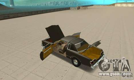 Chrysler Le Baron 1978 for GTA San Andreas inner view