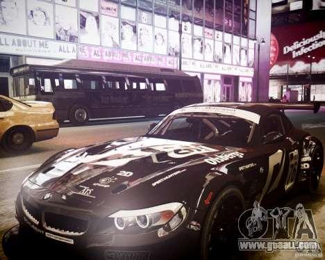 BMW Z4 GT3 2010 for GTA 4 side view