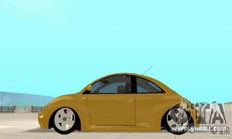 Volkswagen New Beetle GTi 1.8 Turbo for GTA San Andreas back left view