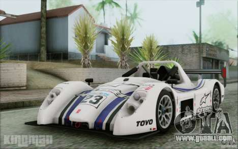 Radical SR3 RS 2009 for GTA San Andreas upper view