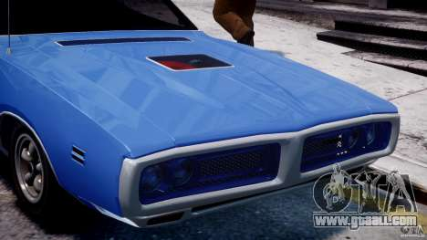 Dodge Charger RT 1971 v1.0 for GTA 4 bottom view