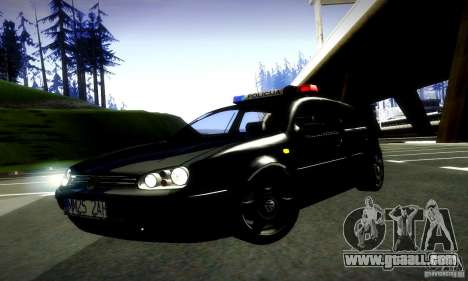 Volkswagen Golf Police for GTA San Andreas right view