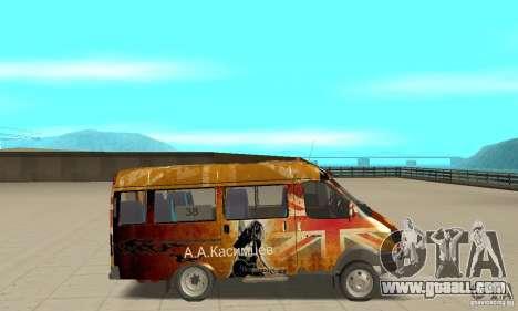 Gazelle kulnev obezbašennaâ for GTA San Andreas back left view