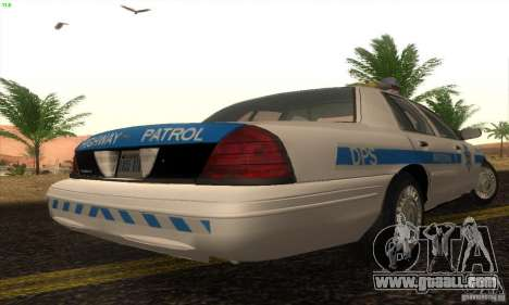 Ford Crown Victoria Arizona Police for GTA San Andreas left view