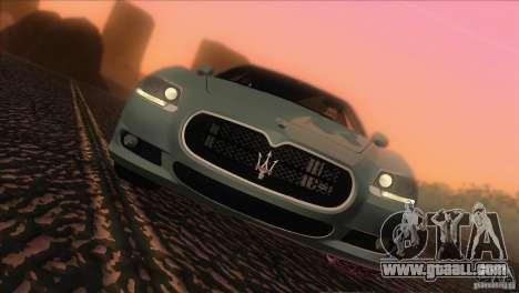 Maserati Quattroporte Sport GT V1.0 for GTA San Andreas back left view