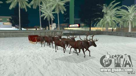 Does Santa's team for GTA San Andreas back view